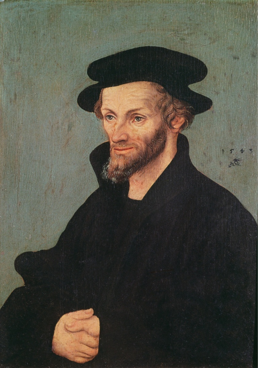 Portrait of Philipp Melanchthon (1497-1560) 1543 (oil on panel)